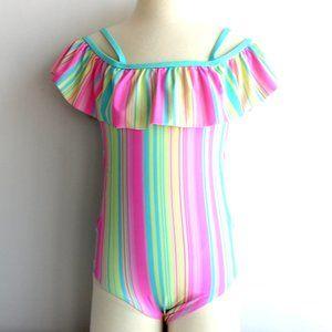 Wonder Nation One Piece Swimsuit Girls Size 7/8